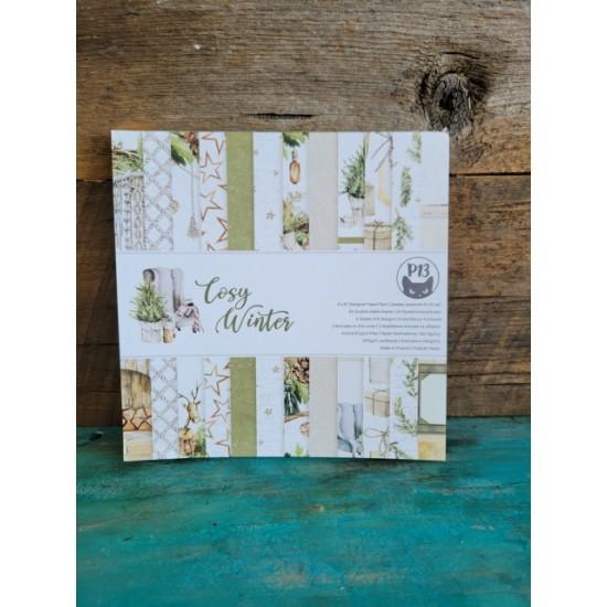 P13- Pad de papier  6 '' x 6'' - Cosy Winter