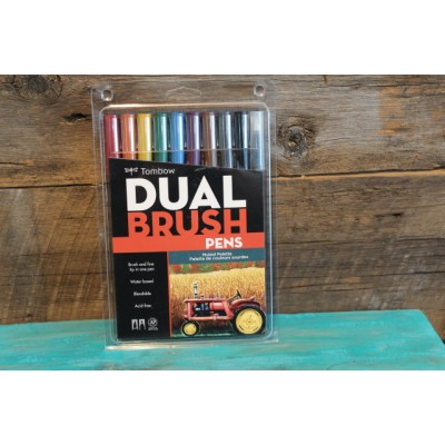 Crayon Tombow Dual Brush - palette de couleurs sourdes