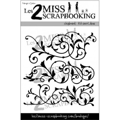 Chipboard Les 2 MIss Scrapbooking - Kit swril deux