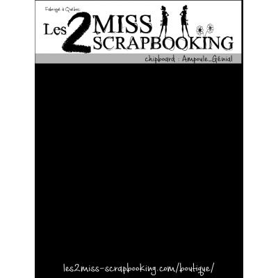 Chipboard Les 2 MIss Scrapbooking - Ampoule- Génial