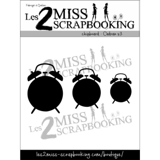 Chipboard Les 2 Miss Scrapbooking - Cadrans