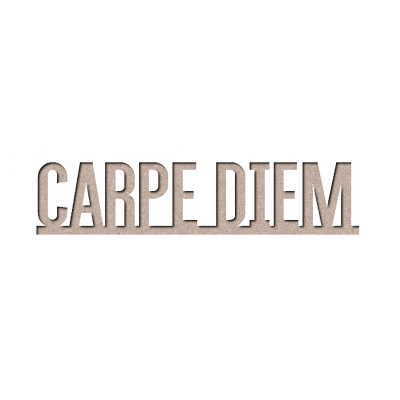 Chipboard Les 2 MIss Scrapbooking - Carpe diem