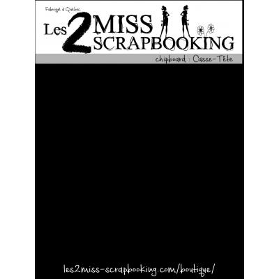 Chipboard Les 2 MIss Scrapbooking - Casse-tête