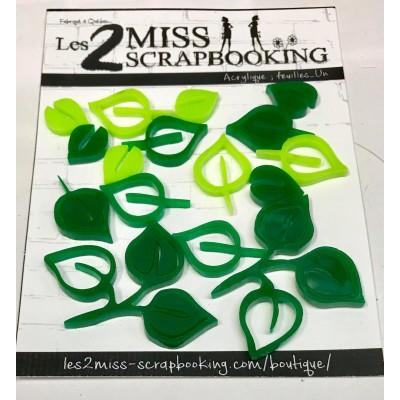 Acrylique Les 2 Miss Scrapbooking - Feuilles_un