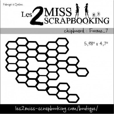 Chipboard Les 2 Miss Scrapbooking - forme 7