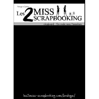 Chipboard Les 2 MIss Scrapbooking - En route vers l'aventure