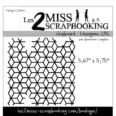 Chipboard Les 2 MIss Scrapbooking - Hexagone_ un