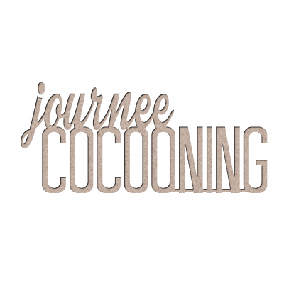 Chipboard Les 2 MIss Scrapbooking - Journée cocooning