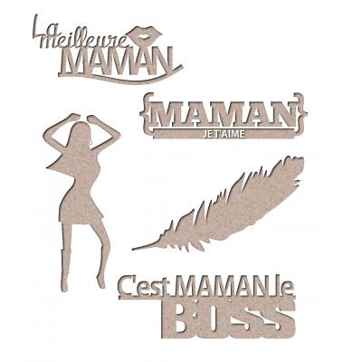 Chipboard Les 2 MIss Scrapbooking - Kit maman_2