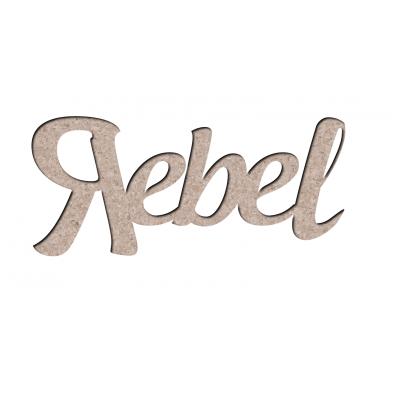 Chipboard Les 2 MIss Scrapbooking - Rebel