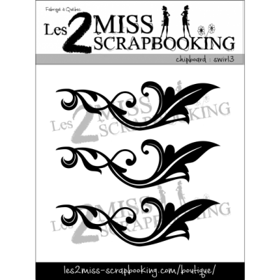 Chipboard Les 2 MIss Scrapbooking - Swirl 3