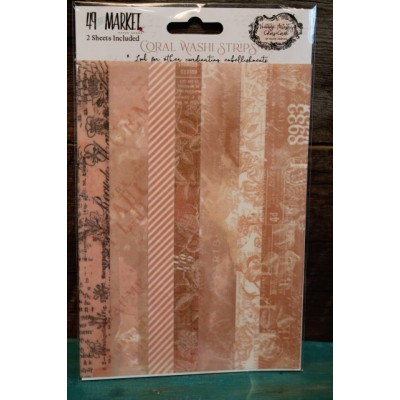 Coral washi strips de 49 and Market