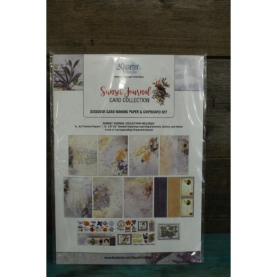 3 Quarter Desings - kit card collection - Sunset Journal